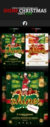 Shine Christmas Party Flyer by cooledition