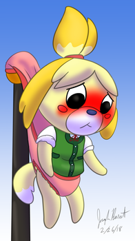 Isabelle's Flagpole Wedgie by Avionscreator