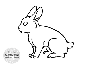 MS Paint-Friendly Rabbit Lineart (FREE USE) by Adoptadpoles