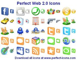 Perfect Web 2.0 Icons by Iconoman