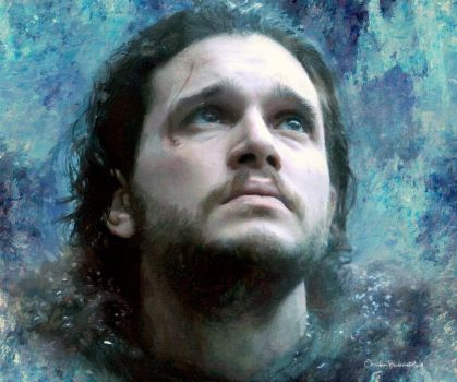 -Jon Snow- by Orchidea-Blu