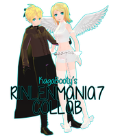 [RINLENMANIA7 Collab] Black Vow Rin and Len by kitzabitza