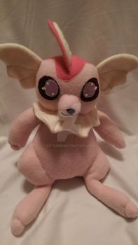 Pink Vaporeon Fleece Plush by LittleNii