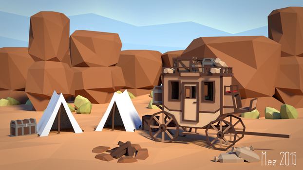 carriage [LowPoly] by Mezaka