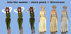 Into the Woods Stock Pack by Arlesienne