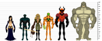 Overthrow Lineup and Height Comparison by BSDigitalQ