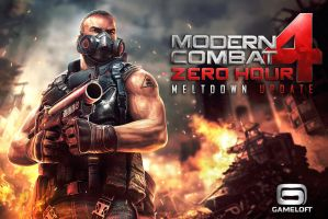Modern Combat 4 Meltdown promotional illustration by Guesscui