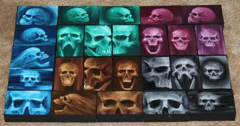 Mini Artomat Skulls 26-50 by crazycolleeny