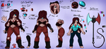 [OC] Cat's Spinel Eye - Gemsona (ADDED BIO) by Herobette