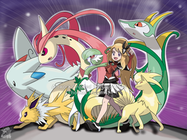 Commission - Bri's Pokemon Team by Tails19950