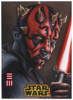 Maul Artist Proof Sketch Card from SOLO A STAR WAR by Erik-Maell