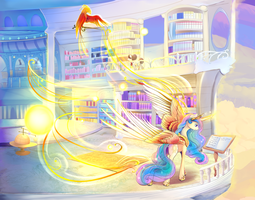 Princess Celestia Full by viwrastupr