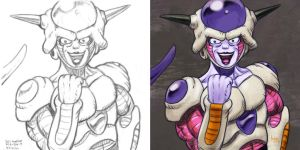 Daily Sketches Frieza by fedde