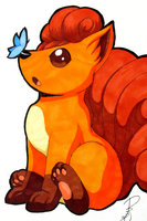 Vulpix by Chiibe
