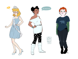 Modern Disney Girls III by Nibilondiel
