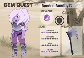 Banded Amethyst- Gem Quest by PiFiartist