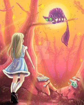 Alice meets the Cheshire Cat by Hayley-Hyuga