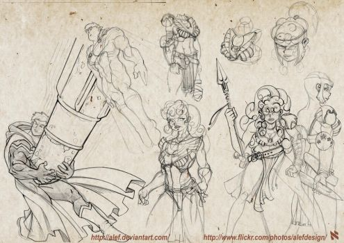 DC Character Sketchs by alef