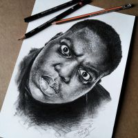 Notorious B.I.G. a.k.a Biggie by Cleicha