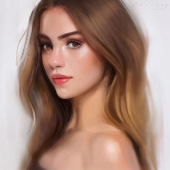 Portrait Painting by GabrielleBrickey