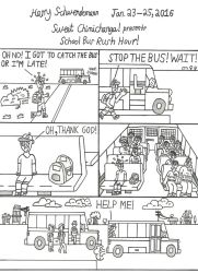 School Bus Rush Hour! by OliverRed
