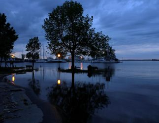 Sackets Harbor flooding by TheBrassGlass