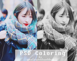 PSD Coloring  by Khanhhoa by smalleyeskhanhhoa