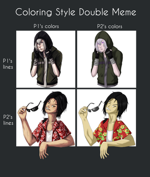 Colouring Style Double Meme feat. Chacou by Ruby-Lily