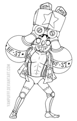 Frankie ::One Piece Lineart:: by YamPuff