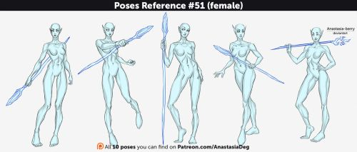 Poses Reference #51 (female) by Anastasia-berry