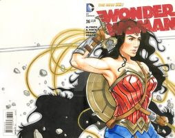 Wonder Woman - Pencil/Ink/MultiChromatic by mkmatsumoto