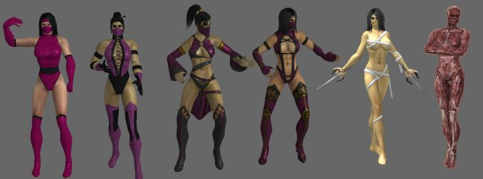 Evolution of Mileena's outfit by Simony17y