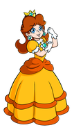 Princess Daisy- Original art style by Laurence-L