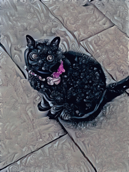 Style transfer cat by Fractalin