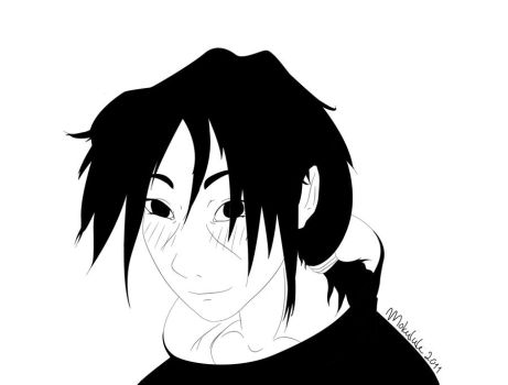 Itachi - happy and young by Mokulule