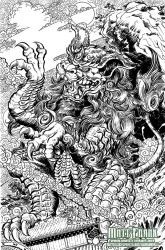 Godzilla Rulers of Earth Vol 5 Okinawa Cover lines by KaijuSamurai