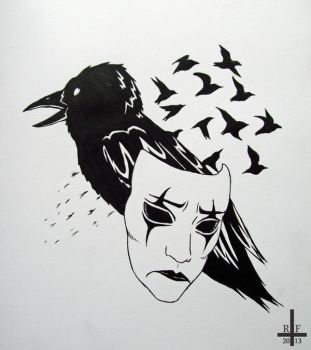 The Crow tattoo by Kagoe