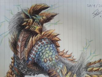 Zinogre - Monster Hunter by Jakeiiii