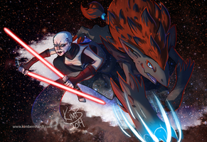Crossovers 1: Star Wars Ventress Zoroark by phantos