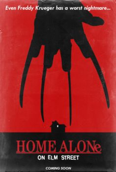 Home Alone on Elm Street - Poster by Delorean7