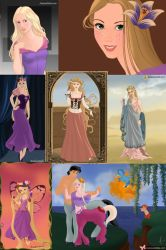 The Many Faces of Rapunzel by ZeldaQueen64