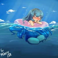 Mi-Ke Swimming by gamera1985