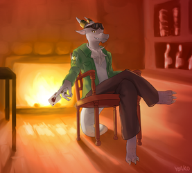 (Commission) Tavern Dragon by TheBorealYoako