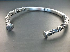 Celtic Torc, punched finials by ou8nrtist2
