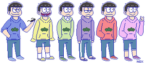 the SEXTUPLETS by KaminaKritter