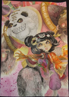 Panda Annie painting by annemonster