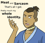 Sokka the Meat and Sarcasm Guy by tomatofruit