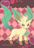 Leafeon Poster by Crystal-Ribbon