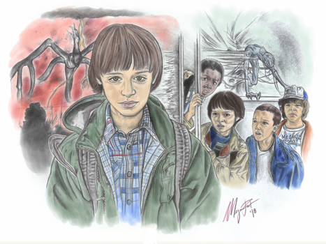 Stranger Things - Colored version by MeganzMonkeyBusiness