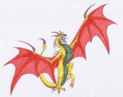 Colorful Wyvern by Scatha-the-Worm